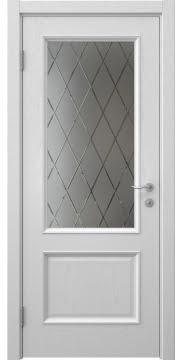 Межкомнатная дверь SK002 (шпон ясень светло-серый / сатинат ромб) — 5913