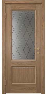 Межкомнатная дверь SK002 (шпон дуб светлый / сатинат ромб) — 5904