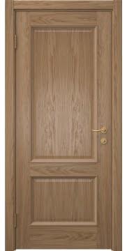 Классическая шпонированная дверь, SK002 (шпон дуб светлый, глухая)