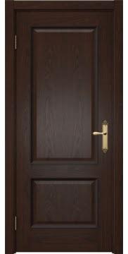 Межкомнатная дверь SK002 (шпон дуб коньяк / глухая) — 5023