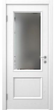 Межкомнатная дверь SK002 (шпон ясень белый / стекло рамка) — 5032