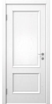 Межкомнатная дверь, SK002 (шпон белый ясень, глухая)