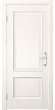 Межкомнатная дверь SK002 (шпон ясень слоновая кость / глухая) — 5026
