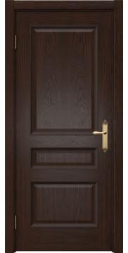 Межкомнатная дверь, SK003 (шпон дуб коньяк, глухая)