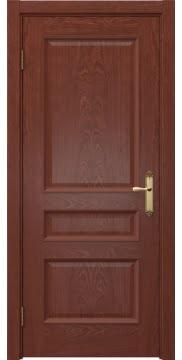 Классическая дверь, SK003 (шпон красное дерево, глухая)