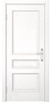 Дверь SK003 (шпон белый ясень, глухая)