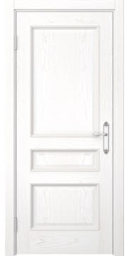 Межкомнатная дверь SK003 (шпон ясень белый / глухая) — 5124