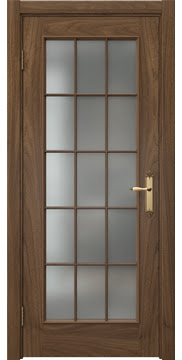 Межкомнатная дверь SK005 (шпон американский орех / матовое стекло) — 5814