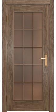 Межкомнатная дверь SK005 (шпон американский орех / стекло бронзовое) — 5815