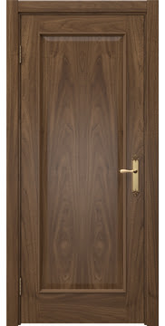 Межкомнатная дверь, SK005 (шпон американский орех, глухая)