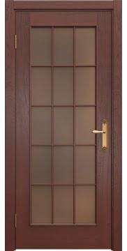 Межкомнатная дверь SK005 (шпон красное дерево / стекло бронзовое) — 5683