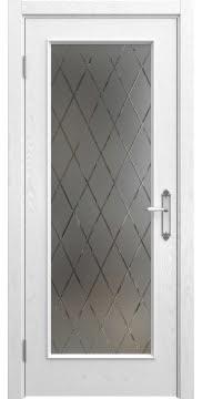 Межкомнатная дверь SK005 (шпон ясень белый / стекло бронзовое рамка) — 5698