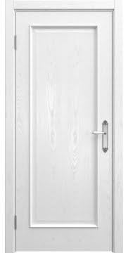 Межкомнатная дверь SK005 (шпон ясень белый / глухая) — 5039