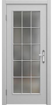 Межкомнатная дверь SK005 (эмаль серая / стекло рамка) — 5692