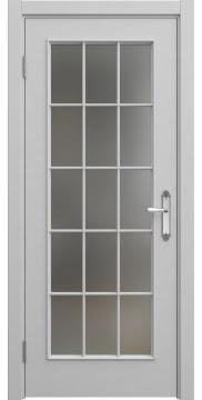 Межкомнатная дверь SK005 (эмаль серая / матовое стекло) — 5693