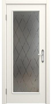 Межкомнатная дверь SK005 (эмаль слоновая кость / стекло бронзовое рамка) — 5695