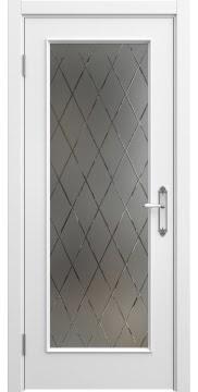 Межкомнатная дверь SK005 (эмаль белая / стекло бронзовое рамка) — 5687