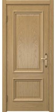 Межкомнатная дверь SK006 (натуральный шпон дуба / глухая) — 5052