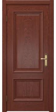 Дверь в стиле классик, SK006 (шпон красное дерево, глухая)