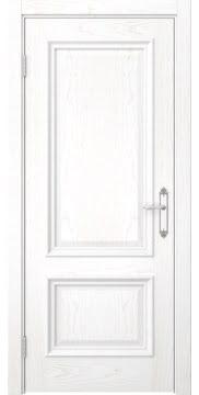 Межкомнатная дверь в стиле classic, SK006 (белый ясень)