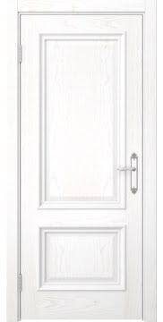 Межкомнатная дверь SK006 (шпон ясень белый / глухая) — 5067