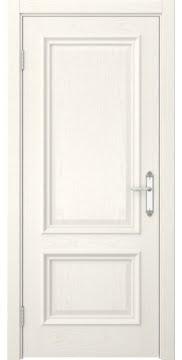 Межкомнатная дверь, SK006 (шпон ясень слоновая кость, глухая)