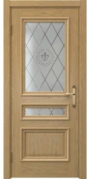 Дверь, SK007 (шпон натурального дуба, остекленная)
