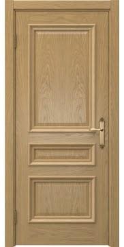 Межкомнатная дверь SK007 (натуральный шпон дуба / глухая) — 5073