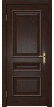 Межкомнатная дверь, SK007 (шпон дуб коньяк, глухая)