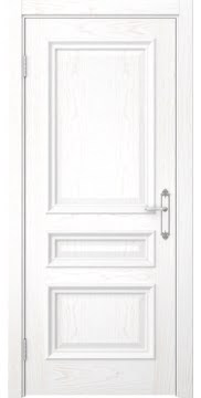Дверь SK007 (шпон белый ясень, глухая)