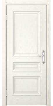 Межкомнатная дверь, SK007 (шпон ясень слоновая кость, глухая)