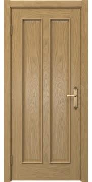 Межкомнатная дверь SK008 (натуральный шпон дуба / глухая) — 5093