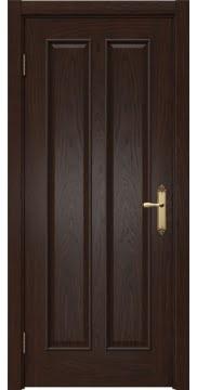 Межкомнатная дверь, SK008 (шпон дуб коньяк, глухая)