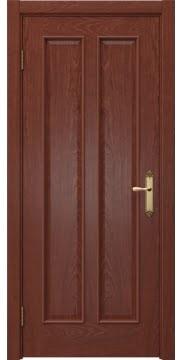 Межкомнатная дверь, SK008 (шпон красное дерево, глухая)