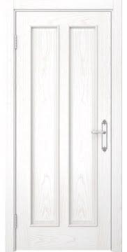 Межкомнатная дверь SK008 (шпон ясень белый / глухая) — 5108