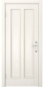 Межкомнатная дверь SK008 (шпон ясень слоновая кость / глухая) — 5111