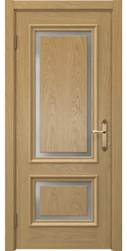 Дверь SK009 (шпон дуб натуральный, матовое стекло)