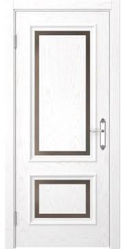 Межкомнатная дверь SK009 (шпон ясень белый / стекло бронзовое) — 5218