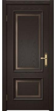 Межкомнатная дверь SK009 (шпон ясень темный / стекло бронзовое) — 5227