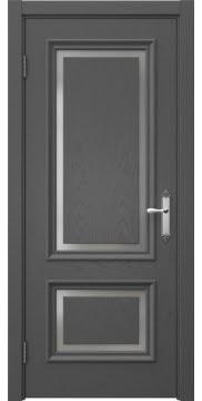 Межкомнатная дверь SK009 (шпон ясень серый / матовое стекло) — 5230
