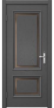 Межкомнатная дверь SK009 (шпон ясень серый / стекло бронзовое) — 5229