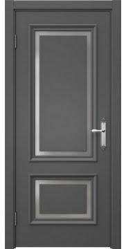 Межкомнатная дверь SK009 (эмаль серая / матовое стекло) — 5226