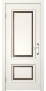 Межкомнатная дверь SK009 (эмаль слоновая кость / стекло бронзовое) — 5222