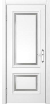 Дверь классика SK009 (эмаль белая, матовое стекло)