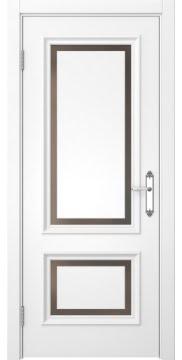 Межкомнатная дверь SK009 (белая эмаль / стекло бронзовое) — 5224