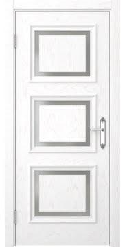 Дверь SK010 (шпон белый ясень, матовое стекло)