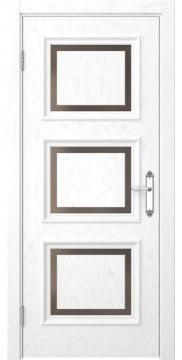 Межкомнатная дверь SK010 (шпон ясень белый / стекло бронзовое) — 5238