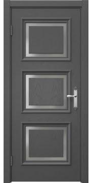 Дверь межкомнатная SK010 (шпон ясень серый, матовое стекло)