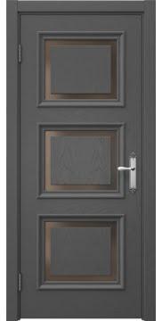 Межкомнатная дверь SK010 (шпон ясень серый / стекло бронзовое) — 5249