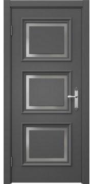 Межкомнатная дверь SK010 (эмаль серая / матовое стекло) — 5246
